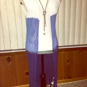 Multicolor sleeveless cardigan